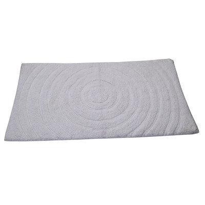 Textile Decor Castle Castle Hill 100% Cotton Echo Spray Latex Back Bath Rug, 30 H X 20 W, White