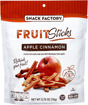 Snack Factory® Apple Cinnamon Fruit Sticks 2.75 oz. Bag