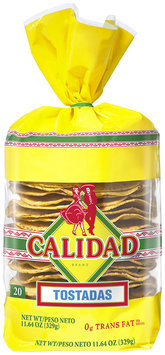 Calidad Yellow Tostadas 20 ct Bag