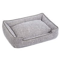Jax And Bones Harper Textured Woven Lounge Dog Bed Size: Extra Large, Color: Gris