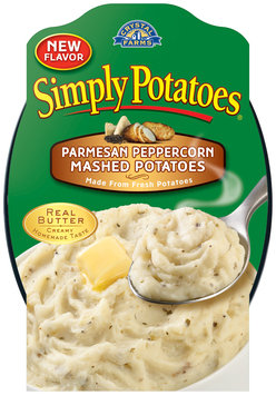 Crystal Farms® Simply Potatoes® Parmesan Peppercorn Mashed Potatoes 21 oz. Tray