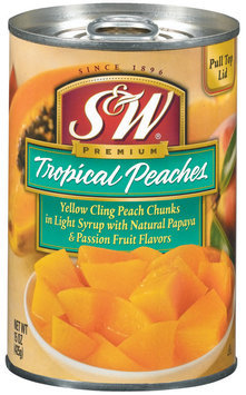 S&W® Tropical Peaches in Light Syrup 15 oz. Pull-Top Can