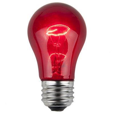 Wintergreen Lighting 15W Red 130-Volt Light Bulb (Pack of 25)