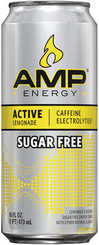 AMP® Energy Active Lemonade Sugar Free 16 fl. oz. Can