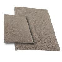 Textile Decor Castle 2 Piece 100% Cotton Shooting Star Reversible Bath Rug Set, 24 H X 17 W and 30 H X 20 W