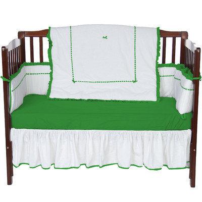 Baby Doll Bedding Unique 4 Piece Crib Bedding Set Color: Green apple