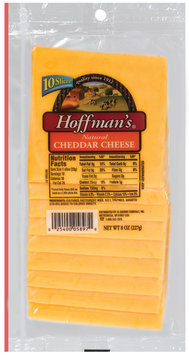 Hoffman's Natural Cheddar Cheese Slices 10 Ct Peg