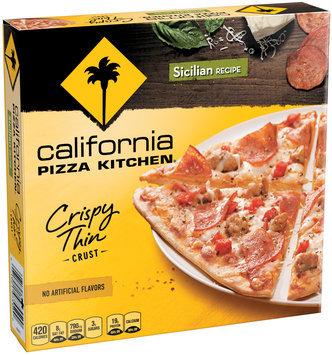 CALIFORNIA PIZZA KITCHEN Crispy Thin Crust Pizza Sicilian Recipe Small Pizza