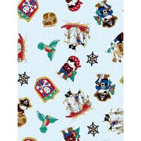 Stwd 3 Piece Pirates Sheet Crib Bedding Set