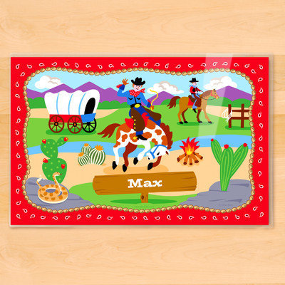 Olive Kids Ride 'em Personalized Placemat