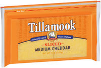 Tillamook® Natural Medium Cheddar Cheese Deli Slices 52 ct Bag