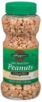 Haggen Dry Roasted Unsalted Peanuts 16 Oz Plastic Jar
