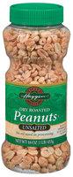 Haggen Dry Roasted Unsalted Peanuts 16 Oz Plastic Jar