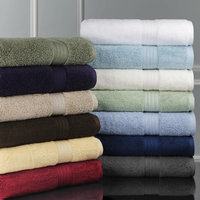 Luxor Linens Bliss Egyptian Cotton Luxury 12 Piece Towel Set, Smoke Blue