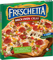 Freschetta® Brick Oven™ Zesty Italian Style Supreme Pizza 23.28 oz. Box