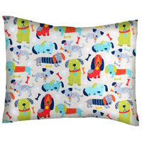 Stwd Doggies Cotton Flannel Crib/Toddler Pillow Case