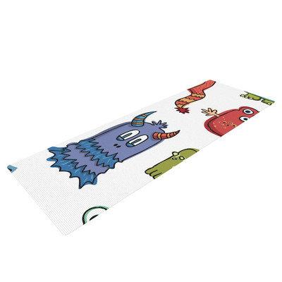 Kess Inhouse Little Monsters by Brienne Jepkema Yoga Mat