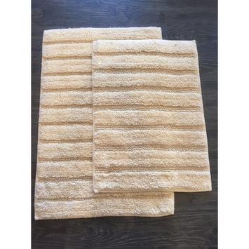 Am Home Textiles Ladder 2 Piece Bath Mat Set, Light Yellow