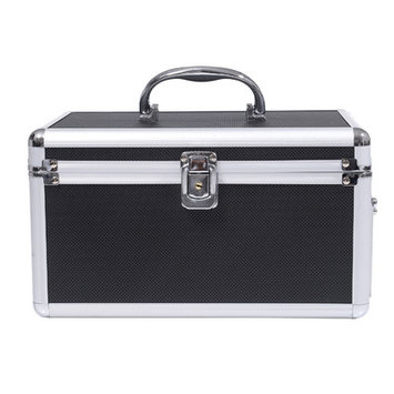 Soozier 4 Drawer Diamond Texture Makeup Train Case Color: Black