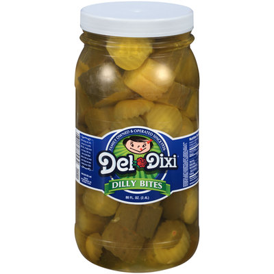 Del-Dixi® Dilly Bites Pickles 80 fl. oz. Plastic Jar