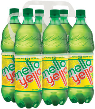 Mello Yello Citrus Soda 6 pk, 24 oz Plastic Bottles