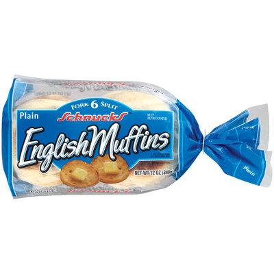 Schnucks Plain Fork Split English Muffins 6 Ct Bag