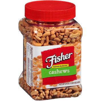 Fisher® Cashews Halves & Pieces 24 oz. Plastic Container