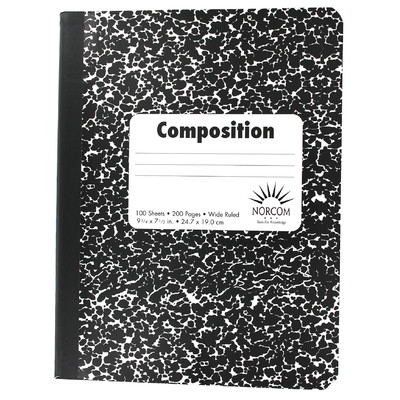 Norcom, Inc Wide Ruled Composition Notebook