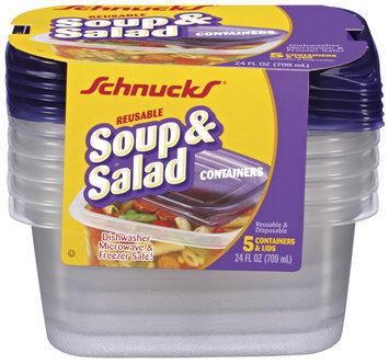 Schnucks Reusable Soup & Salad 24 Oz Containers 5 Ct