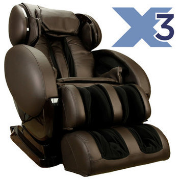 Infinite Therapeutics Infinity IT-8500X3 Brown 3D Zero-Gravity Massage Chair IT8500X3
