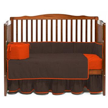 Baby Doll Bedding Solid 4 Piece Crib Bedding Set Color: Brown/Orange