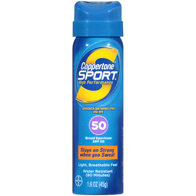 Coppertone® Sport® Broad Spectrum SPF 50 Sunscreen Spray 1.6 oz. Aerosol Can