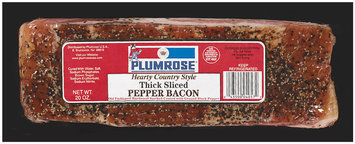 Plumrose Thick Sliced Hearty Country Style Bacon Pepper
