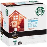 Starbucks Decaf House Blend Medium Ground Coffee K-Cups