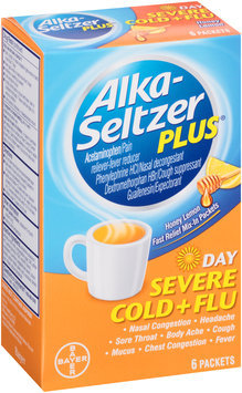 Alka-Seltzer Plus® Day Severe Cold + Flu Fast Relief Honey Lemon Mix-In Packets 6 ct. Box