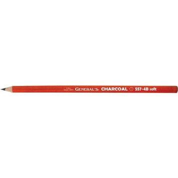 Alvin 557G-4B General Charcoal Pencil - Black