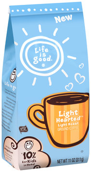 Life is good.® Light Hearted™ Light Roast Ground Coffee 11 oz. Stand-Up Bag