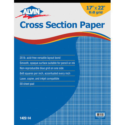 Alvin & Company Alvin 1422-14 Paper Cross Sec 17x22x8 Pad
