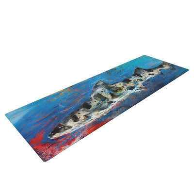 Kess Inhouse Sea Leopard by Josh Serafin Shark Yoga Mat