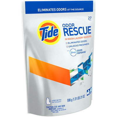 Tide Odor Rescue with Febreze Odor Defense In-Wash Laundry Booster Pacs, 27 loads