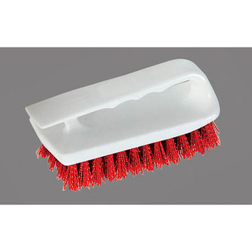 Carlisle Scrubbing Brushes 6 in. Red Bake Pan Hand Scrub Brush (Case of 12) 4002405