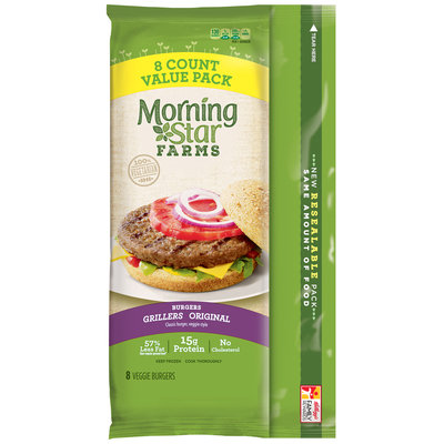 MorningStar Farms® Grillers® Original Veggie Burger 18 oz. Pouch