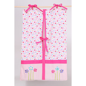 Bacati Fairy Land Diaper Stacker (Pink/Red)