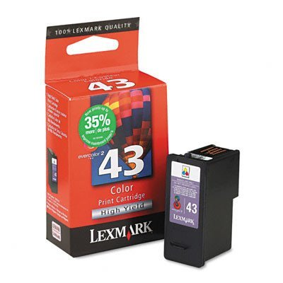 Lexmark 18Y0143 Ink with 500 Page-Yield - Tricolor