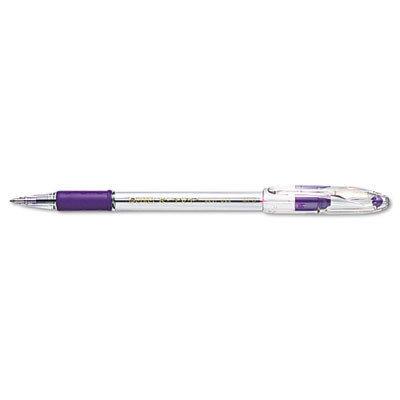 Pentel BK91V S.V.P. Ballpoint Stick Pen, Violet Ink, Medium, Dozen