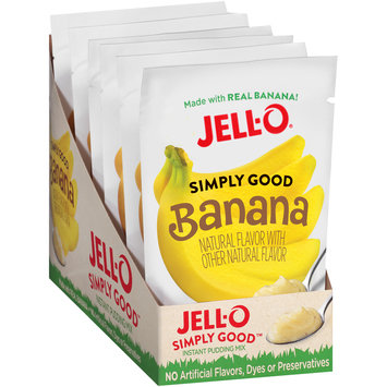 Jell-O® Simply Good Banana Instant Pudding Mix 3.4 oz. Pouch