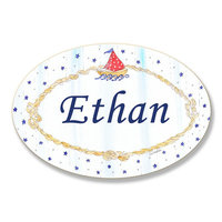 Stupell Industries Kids Room Personalization Nautical Boys Wall Plaque