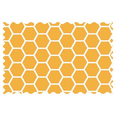 Stwd Honeycomb Fabric by the Yard Color: Mustard Yellow