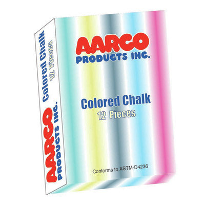AARCO Products CCS-12 Colored Chalk 12 Boxes