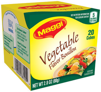 MAGGI Vegetable Flavor Bouillon Cubes 2.8 oz. Box